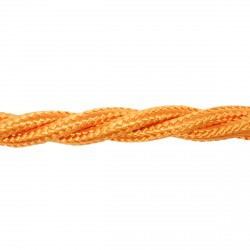 1m Length of Orange Braided Cable
