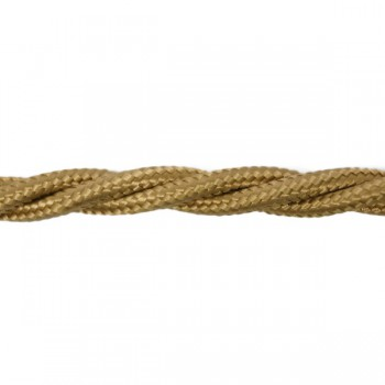 1m Length of Light Brown Braided Cable