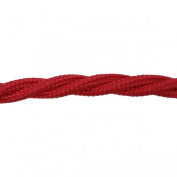 1m Length of Red Braided Cable