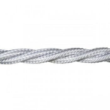 1m Length of Matt White Braided Cable