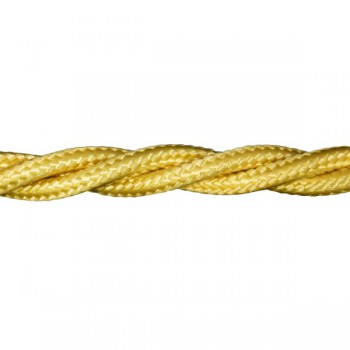 1m Length of Yellow Braided Cable