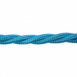 1m Length of Sky Blue Braided Cable