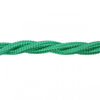 1m Length of Mint Green Braided Cable