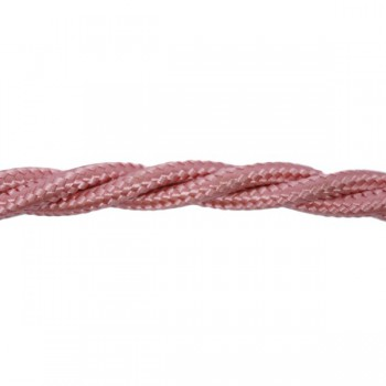 1m Length of Pink Braided Cable