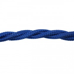 1m Length of Blue Braided Cable