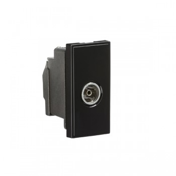 Knightsbridge Black Screened TV Outlet Module - 25x50mm