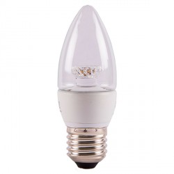 Bell Lighting 4W Warm White Non-Dimmable E27 Clear LED Candle Bulb