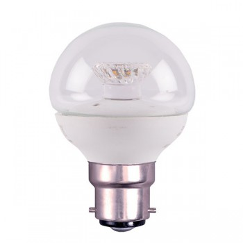 Bell Lighting 4W Warm White Non-Dimmable B22 Clear LED Golf Ball Bulb