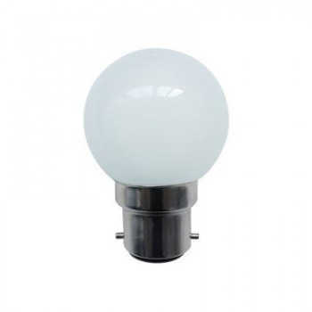 Bell Lighting 1W Non-Dimmable B22 Red Coloured LED Golf Ball Bulb