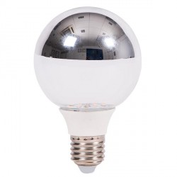 Bell Lighting 5W Warm White Non-Dimmable E27 Crown Silver LED Globe Bulb