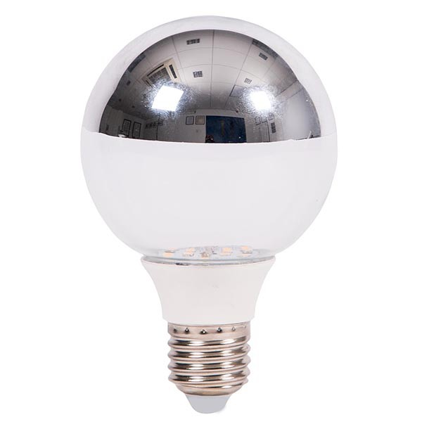Bell Lighting 5W Warm White Non-Dimmable E27 Crown Silver ...