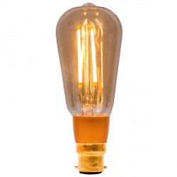 Bell Lighting Vintage 4W Warm White Dimmable B22 Amber LED Squirrel Cage Bulb