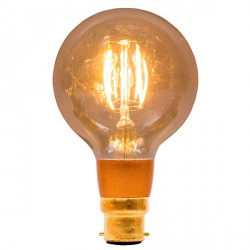 Bell Lighting Vintage 4W Warm White Dimmable B22 Amber LED Globe Bulb