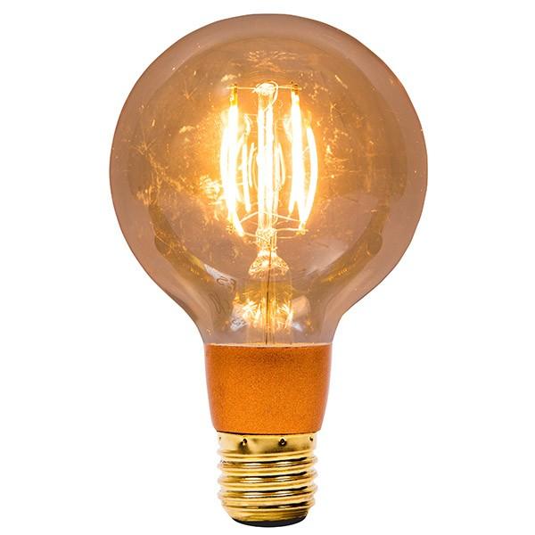 Bell Lighting Vintage 4W Warm White Dimmable E27 Amber LED Globe Bulb