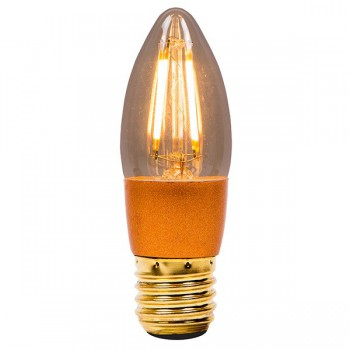 Bell Lighting Vintage 4W Warm White Dimmable E27 Amber LED Candle Bulb