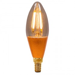 Bell Lighting Vintage 4W Warm White Dimmable E14 Amber LED Candle Bulb