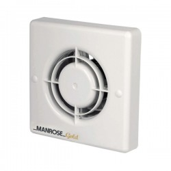 Manrose Gold 100mm Extractor Fan with Timer and Pullcord Switch