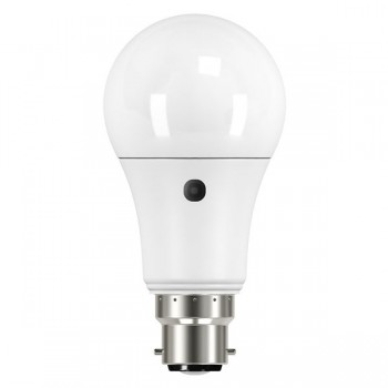 Bell Lighting 9W Warm White Non-Dimmable B22 Pearl LED GLS with Photocell
