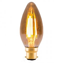 Bell Lighting Vintage 4W Warm White Non-Dimmable B22 Amber LED Candle Bulb
