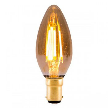 Bell Lighting Vintage 4W Warm White Non-Dimmable B15 Amber LED Candle Bulb
