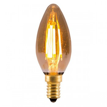 Bell Lighting Vintage 4W Warm White Non-Dimmable E14 Amber LED Candle Bulb