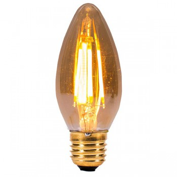 Bell Lighting Vintage 4W Warm White Non-Dimmable E27 Amber LED Candle Bulb