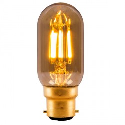 Bell Lighting Vintage 4W Warm White Non-Dimmable B22 Amber LED Tubular Bulb