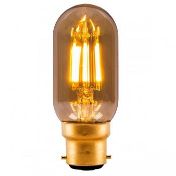 Bell Lighting Vintage 4W Warm White Non-Dimmable B22 Amber LED Tubular Bulb