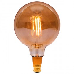 Bell Lighting Vintage 4W Warm White Dimmable B22 Amber LED Large Globe Bulb