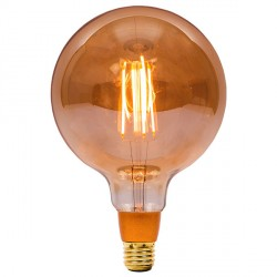 Bell Lighting Vintage 4W Warm White Dimmable E27 Amber LED Large Globe Bulb