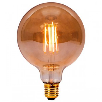 Bell Lighting Vintage 4W Warm White Non-Dimmable E27 Amber LED Large Globe Bulb