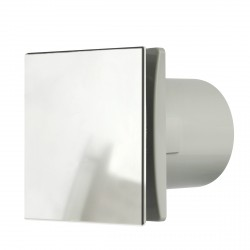 Manrose Rtdeco 100mm Brushed Aluminium Extractor Fan with Timer