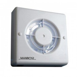Manrose Energy Saving 100mm Extractor Fan with Pullcord Switch