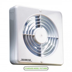 Manrose Energy Saving 150mm Extractor Fan with Pullcord Switch