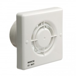 Manrose Lo-Watt Energy Saving 100mm SELV Extractor Fan with Humidity Control