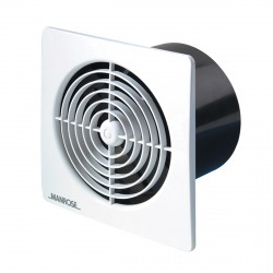 Manrose Lo Profile 100mm Square White Extractor Fan with Timer