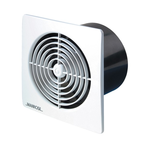 Low Voltage Blower : Manrose lo profile mm square white low voltage