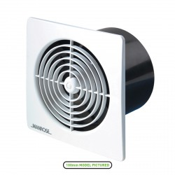 Manrose Lo Profile 150mm Square White Extractor Fan