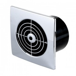 Manrose Lo Profile 150mm Square Chrome Extractor Fan