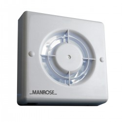 Manrose 100mm Extractor Fan with Timer and Pullcord Switch