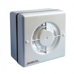 Manrose 100mm Window Extractor Fan with Pullcord Switch