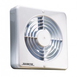 Manrose 150mm Extractor Fan with Humidity Control and Pullcord Switch