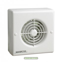 Manrose 100mm Automatic Shutter Extractor Fan with Humidity Control and Pullcord Switch