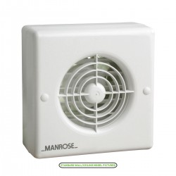 Manrose 100mm Automatic Shutter Window Extractor Fan with Humidity Control and Pullcord Switch