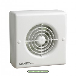 Manrose 150mm Automatic Shutter Extractor Fan with Timer and Pullcord Switch