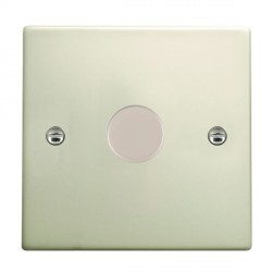 Hamilton Hartland Pearl Oyster Push On/Off Dimmer 1 Gang 2 way 400W with Pearl Oyster Insert