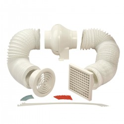 Manrose In-Line Centrifugal Extractor Fan Kit with Timer