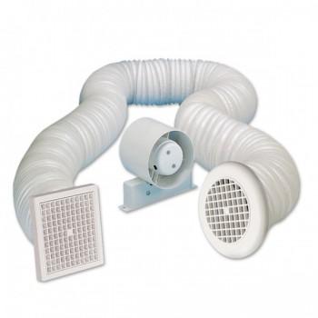 Manrose 100mm In-Line Shower Extractor Fan Kit
