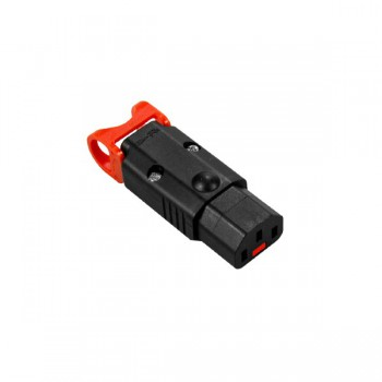 IEC Lock+ Black C13 Rewireable LSZH Connector