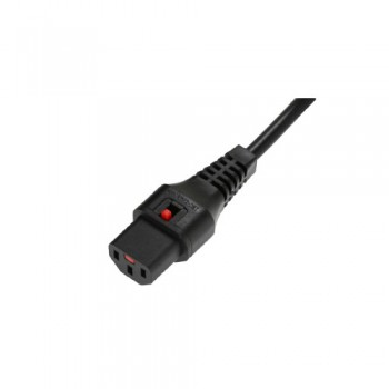 IEC Lock 1m Black Lead with C13 Connector to C14 Plug